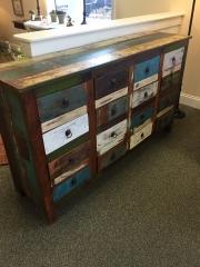 16 drawer shabby dresser
